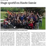 Stage sportif en Haute-Savoie.