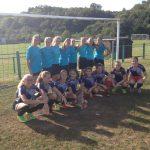 les minimes filles pour la rencontre de foot à Melisey